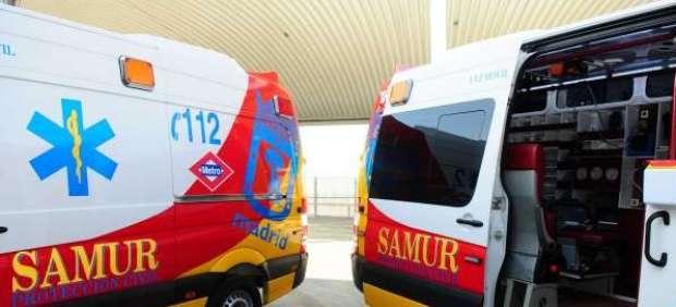Dos ambulancias del Samur.