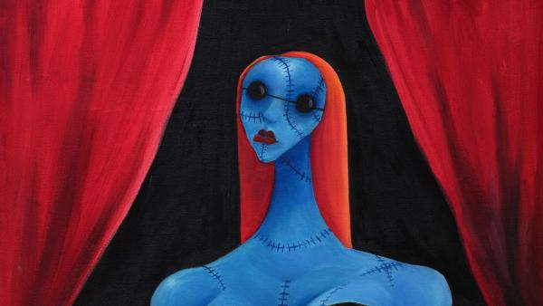 'Blue Girl With Wine', 1997