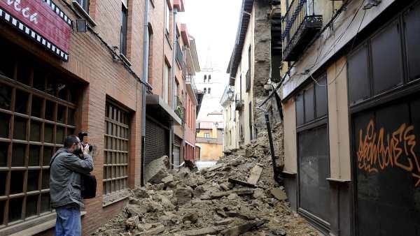 Derrumbe en León