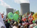 Protesta en Chernóbil