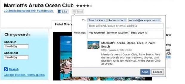 Facebook añade un nuevo botón para sitios web: 'Envíar' se suma al popular 'Me gusta'