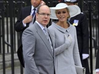El príncipe Alberto de Mónaco y Charlene Wittstock