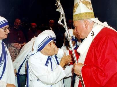 Con la Madre Teresa de Calcuta