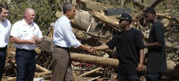 Obama visita Tuscaloosa