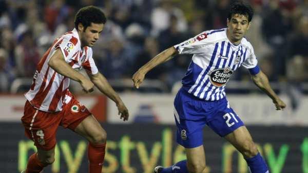 Valerón y Mario Suárez en el Deportivo - Atlético