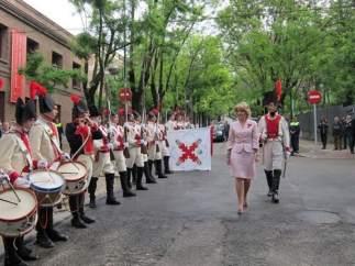 Aguirre, durante el desfile militar