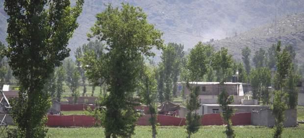 La casa-fortaleza en la que se escond�a Bin Laden