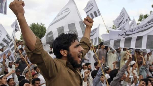 Manifestación contra la muerte de Bin Laden