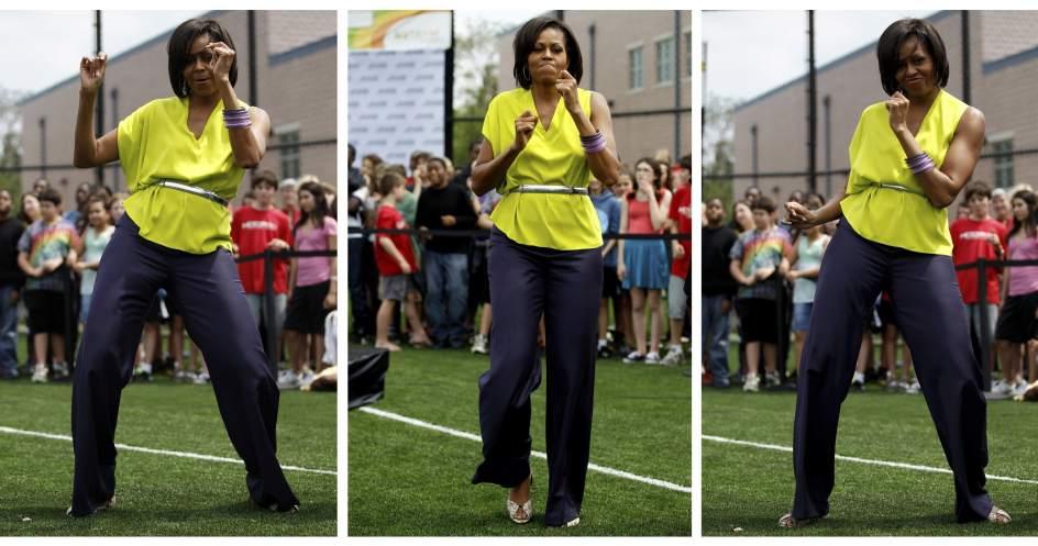 Michelle Obama baila contra la obesidad infantil