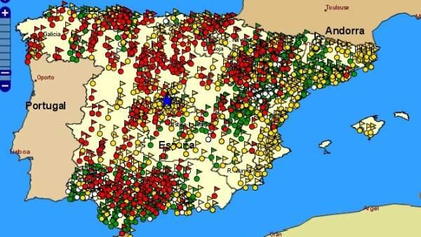 Mapa fosas