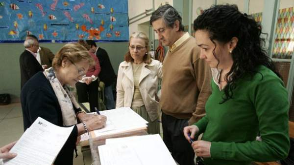 Constitución de una mesa electoral.