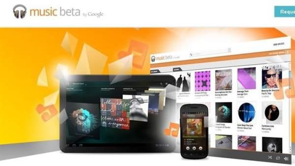 Imagen de la web de Google music