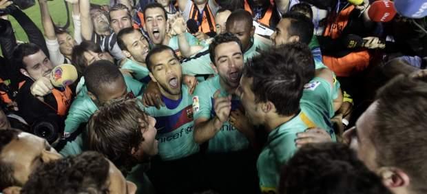 El Barça celebra el título