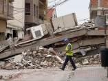 Escombros en Lorca