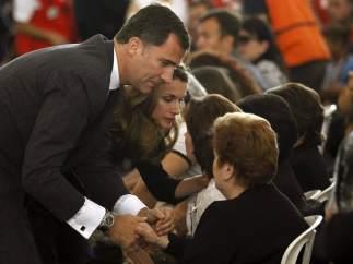 Los príncipes en el funeral de Lorca