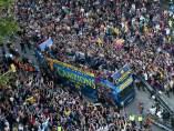 Horario y recorrido de la rúa del Barça por la Copa del Rey y la Liga