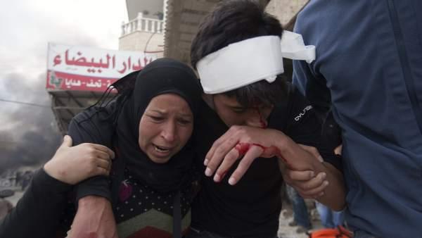 Heridos durante la Nakba