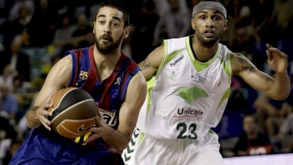 Navarro y Fitch en el Barça - Unicaja