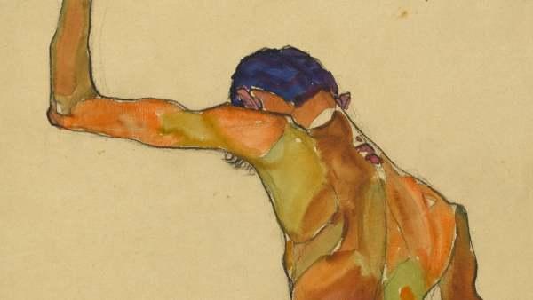 'Desnudo de hombre de pie, visto desde atrás', 1910