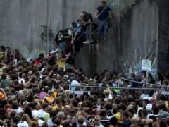Aglomeración en el recinto de la Loveparade.