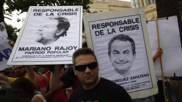 Manifestación en Málaga