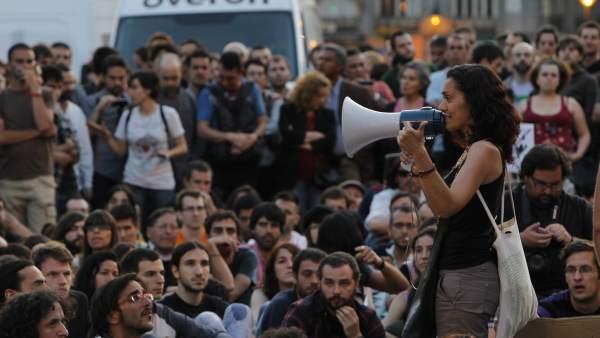 """Acampada por """"más democracia"""""""
