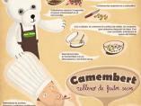 'Camembert relleno de frutos secos'