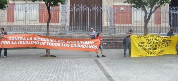 Protesta en Sevilla.