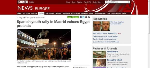Noticia de la BBC