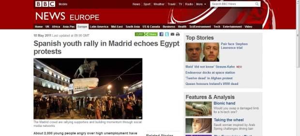 Noticia de la BBC