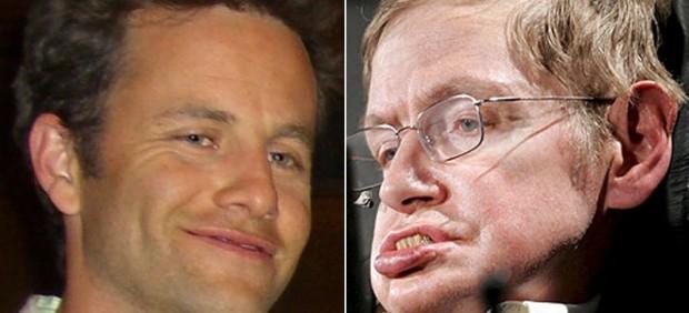 Kirk Cameron y Stephen Hawking