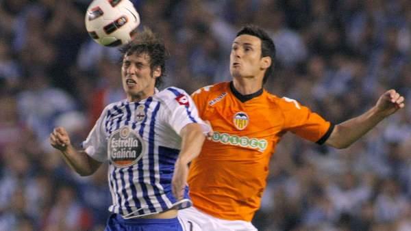 Rubén Pérez y Aduriz en el Deportivo - Valencia