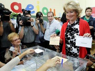 Aguirre votando