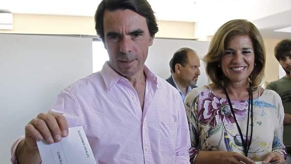Aznar y Ana Botella