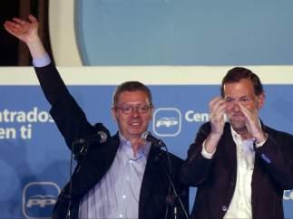 Rajoy junto a Gallardón y Aguirre
