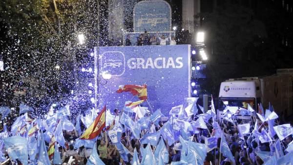 El PP celebra la victoria