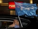 Banderas del PP en Ferraz