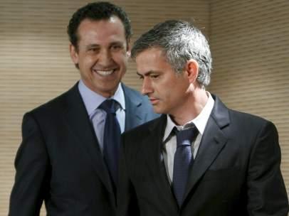 Jorge Valdano y José Mourinho