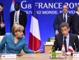 Merkel y Sarkozy, en la cumbre del G8
