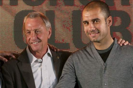 Image result for pep guardiola johan cruyff