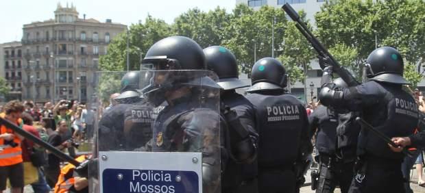Desalojo acampada de Plaza Cataluña