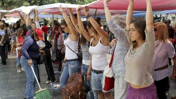 Indignados en Catalunya