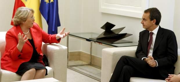 Zapatero y Bachelet