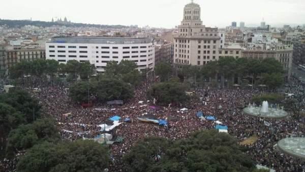 'Indignados' en Barcelona