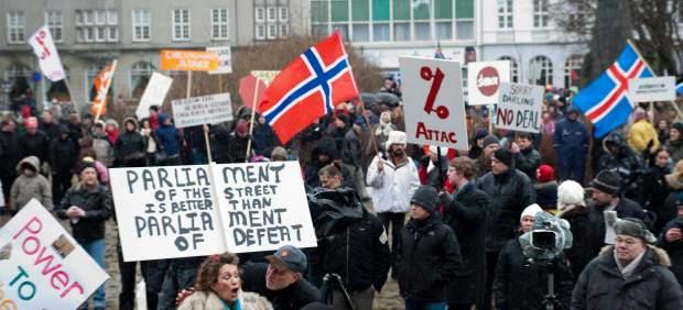 Protesta en Islandia