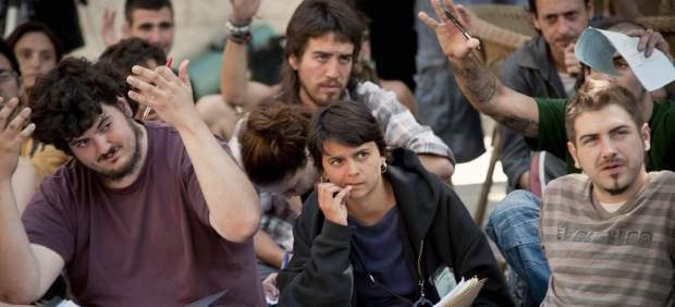Reunión de las acampadas de toda España en Sol
