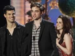 Taylor Lautner, Robert Pattinson y Kristen Stewart