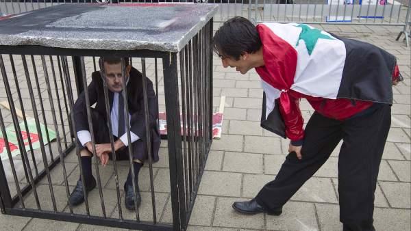 Protesta contra Al-Assad