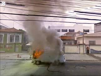 Incendio de una furgoneta