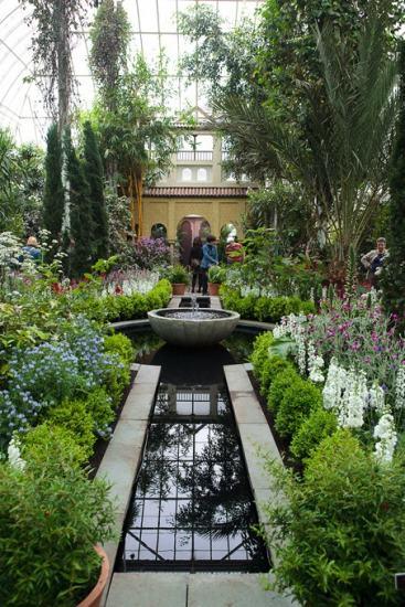 El bot nico de nueva york recrea los jardines de la for Jardines de arabial granada